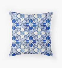 Blue tiles Throw Pillow