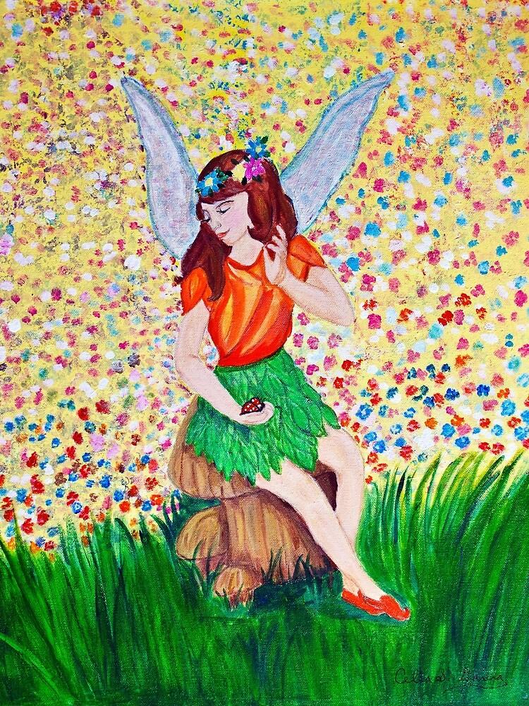 Fairy on Mushroom by CeliaSGarciaArt