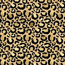 Animal print - natural gold by Gale Switzer