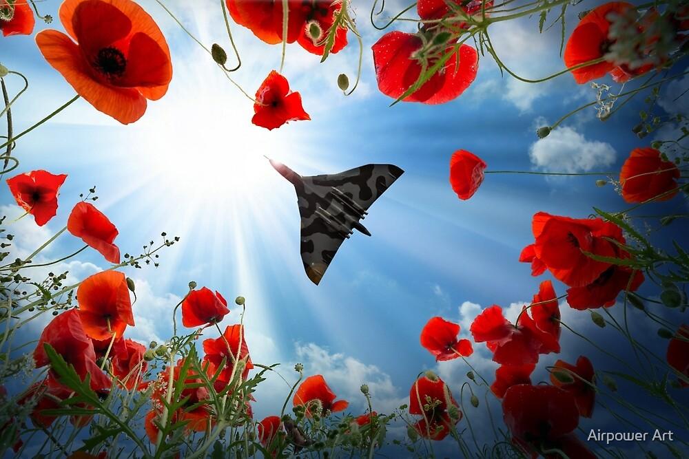 Vulcan Overhead by Airpower Art
