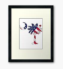 American Flag Palmetto Moon Framed Print