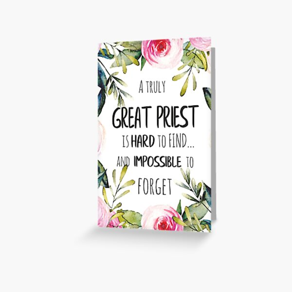 Priest Farewell gift Leaving Gift Idea / Priest thank you quote / Appreciation gift  Greeting Card