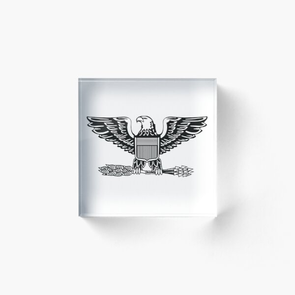 ARMY. Military. Colonel. Rank. Insignia. United States Army, Air Force, Marine Corps. Acrylic Block