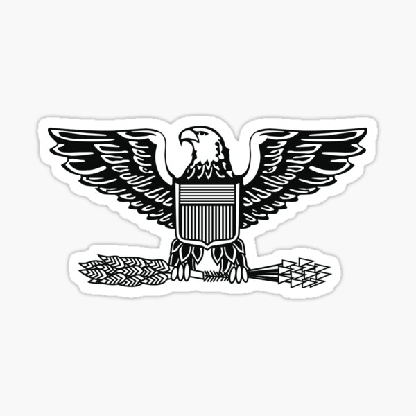 ARMY. Military. Colonel. Rank. Insignia. United States Army, Air Force, Marine Corps. Sticker