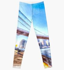 Legging Puente de Brooklyn, Nueva York, Arte