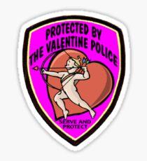 Valentine Police Sticker