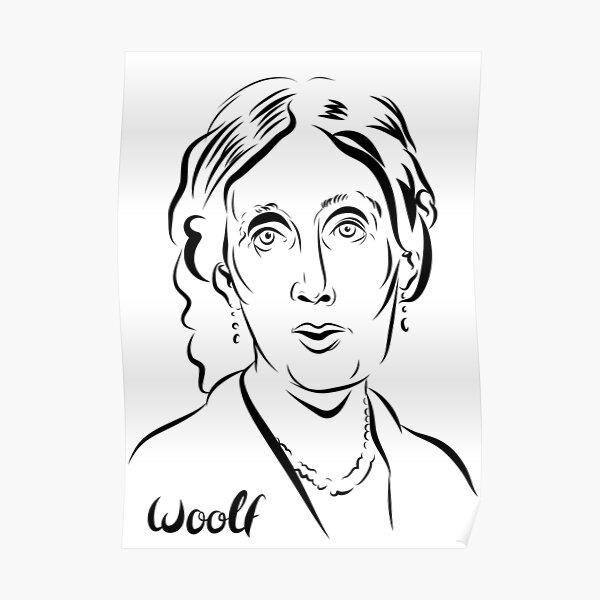 Virginia Woolf portrait. Poster
