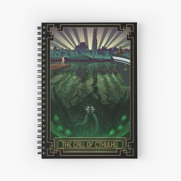 The Call of Cthulhu Art Deco Spiral Notebook