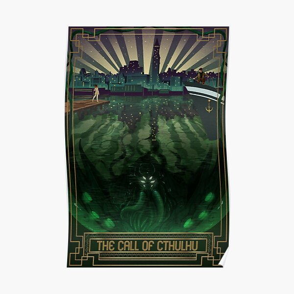 The Call of Cthulhu Art Deco Poster