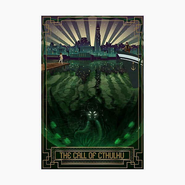 The Call of Cthulhu Art Deco Photographic Print