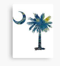 Starry Night Palmetto Moon Canvas Print