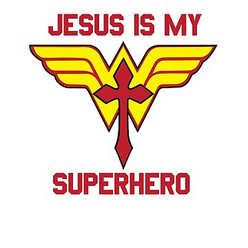 Women's Jesus is my Superhero Christian T-shirt by TCCPublishing