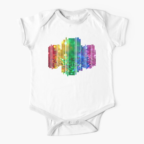 Rainbow drops Short Sleeve Baby One-Piece