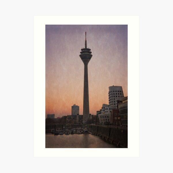 The Rhine Tower At Sunset Art Print