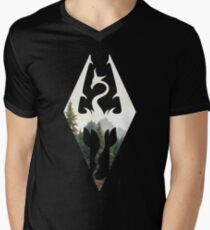 Skyrim Landscape V-Neck T-Shirt