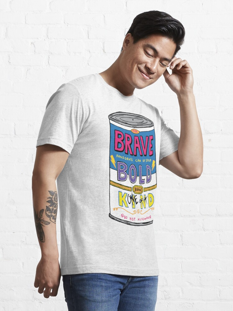 Alternate view of BRAVE BOLD (one-of-a) KIND Essential T-Shirt