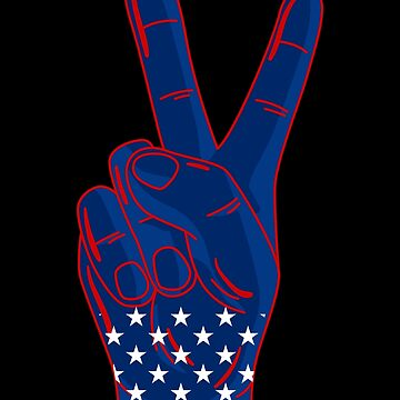 Peace Sign Red White And Blue by Vroomie