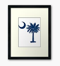Blue Palmetto Moon Framed Print