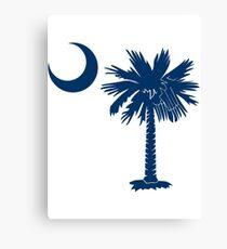 Blue Palmetto Moon Canvas Print