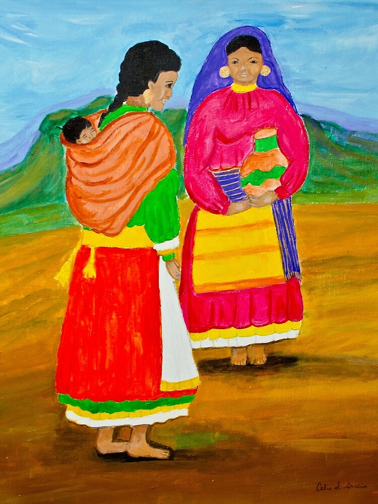 Mexican Ladies by CeliaSGarciaArt