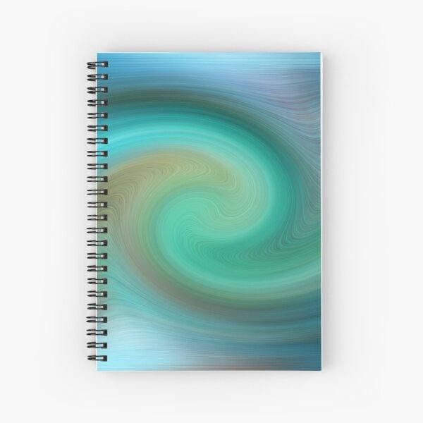 Blue motions Spiral Notebook