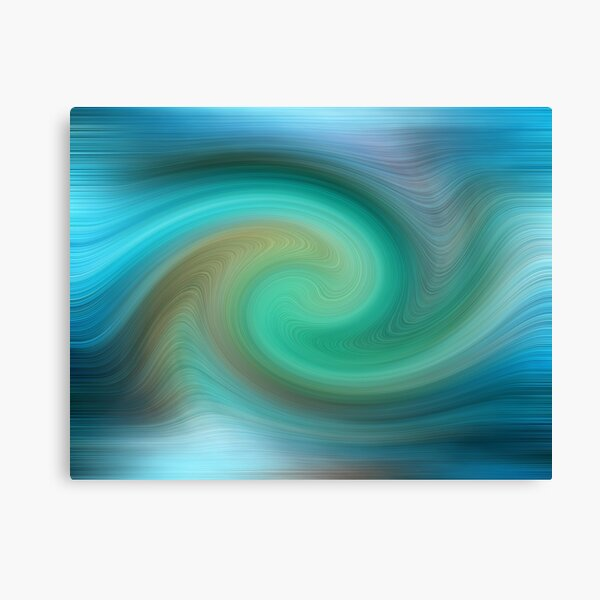 Blue motions Canvas Print