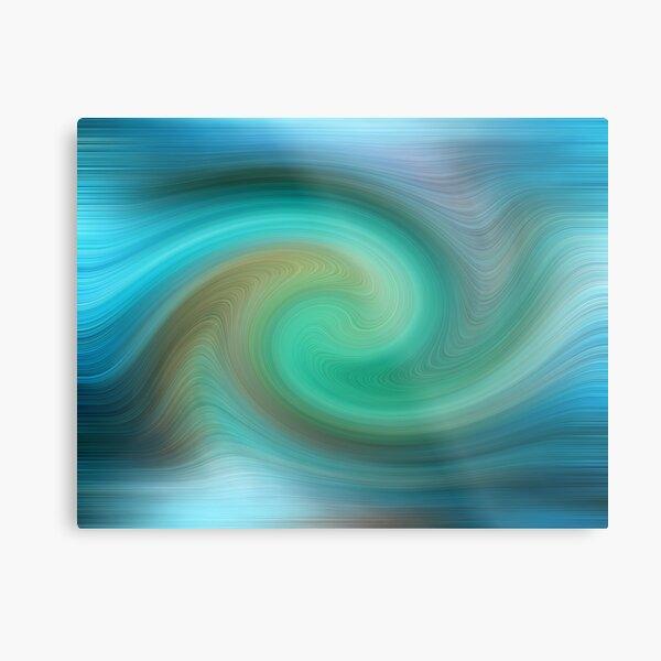 Blue motions Metal Print