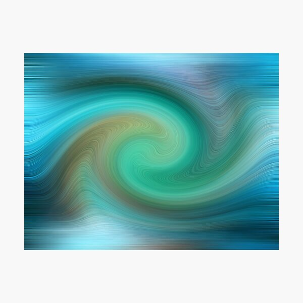 Blue motions Photographic Print
