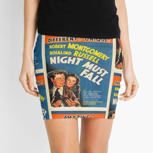 Classic Movie Poster - Night Must Fall Mini Skirt