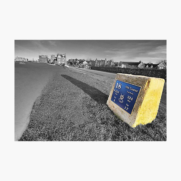 St Andrews, the 18th tee Photographic Print