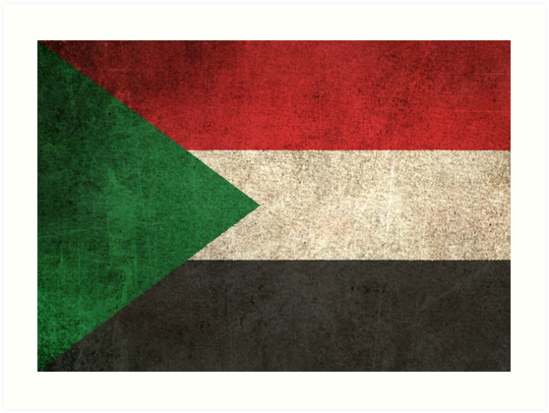 Old and Worn Distressed Vintage Flag of Sudan by jeff bartels