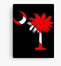 Diver Flag Palmetto Moon Canvas Print