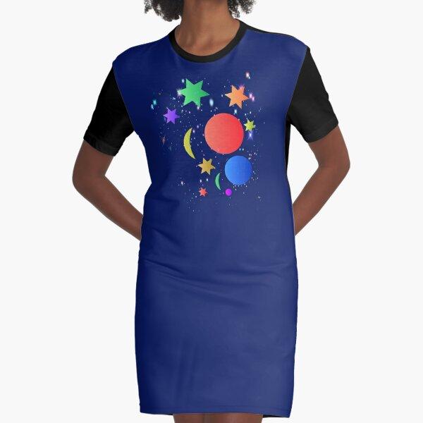 The Galaxy Graphic T-Shirt Dress
