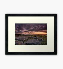 Frogs gob sunset Framed Print