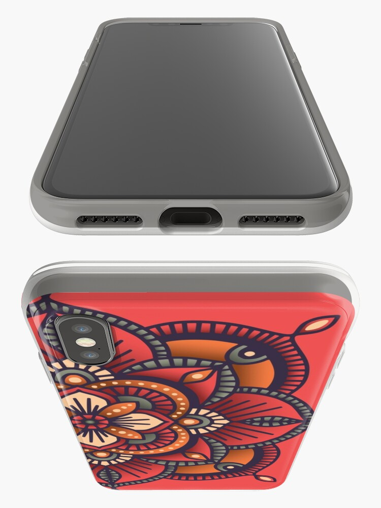 Alternate view of Red Mandala  iPhone Cases & Covers