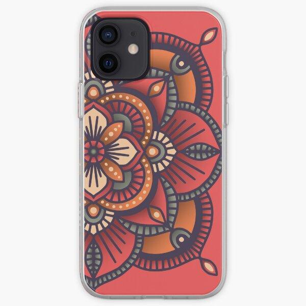 Red Mandala  iPhone Soft Case