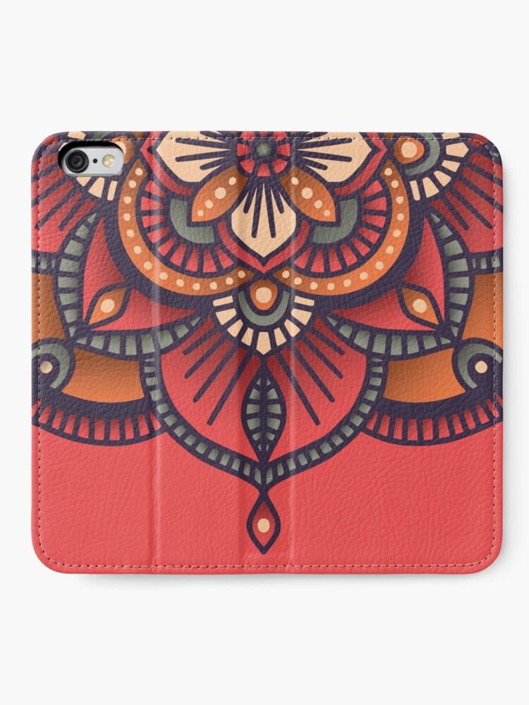 Alternate view of Red Mandala  iPhone Wallet
