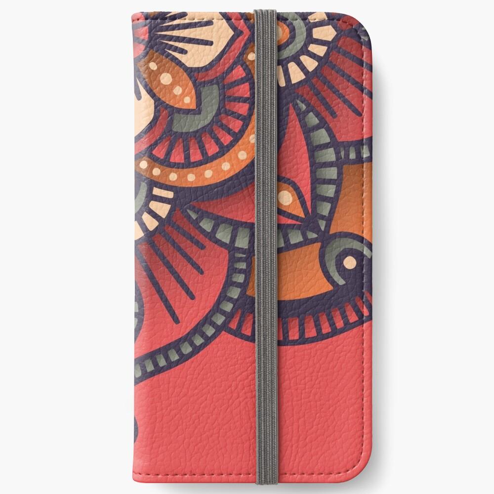 Red Mandala  iPhone Wallet