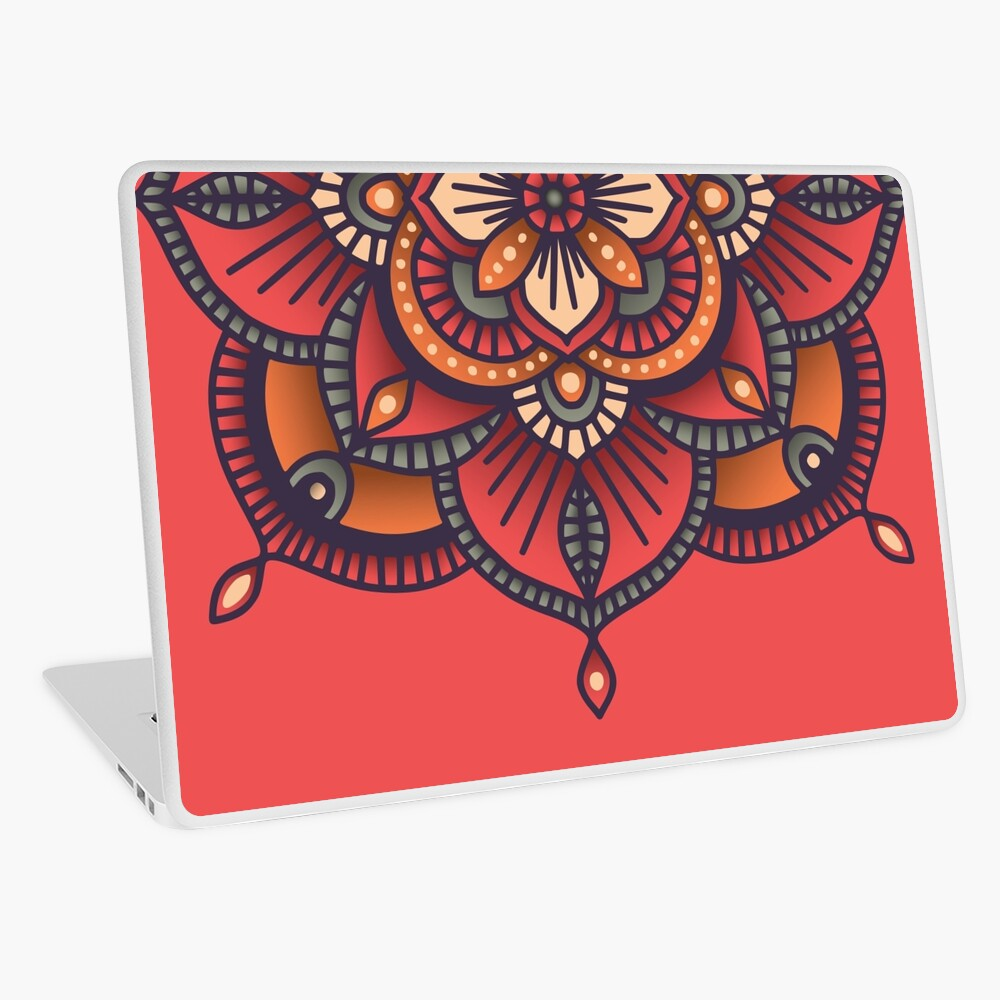 Red Mandala  Laptop Skin