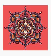 Red Mandala  Photographic Print