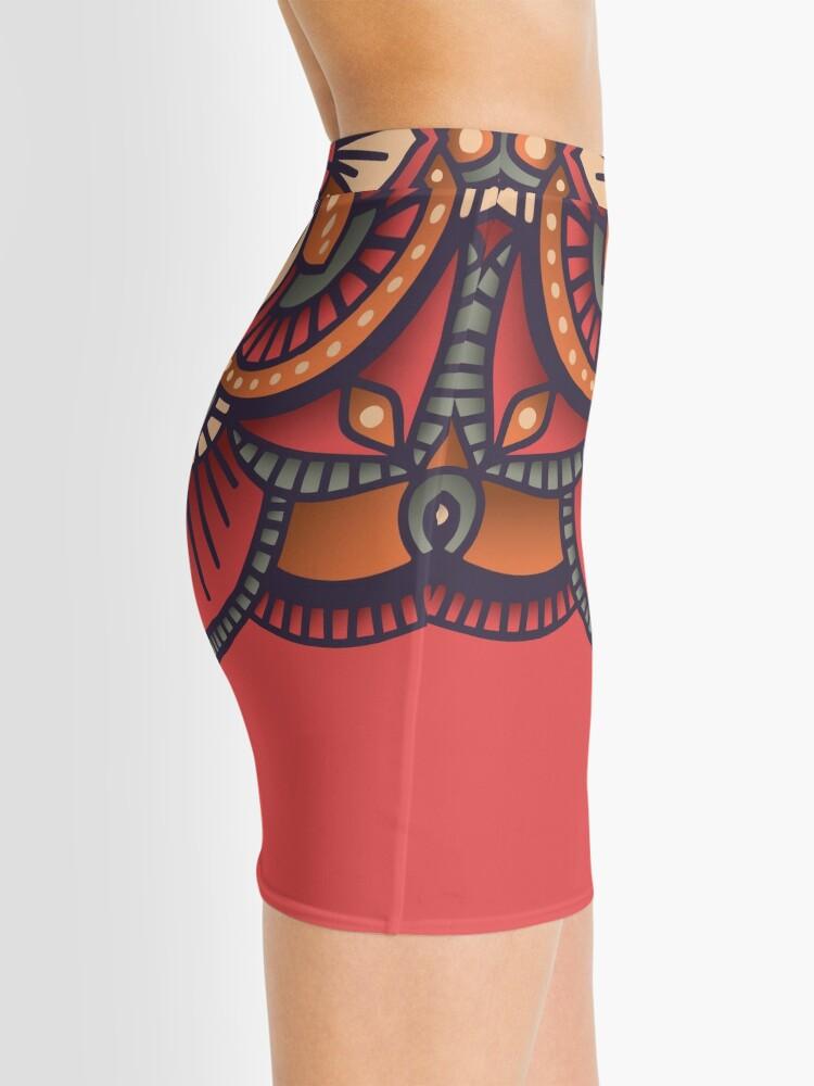 Alternate view of Red Mandala  Mini Skirt