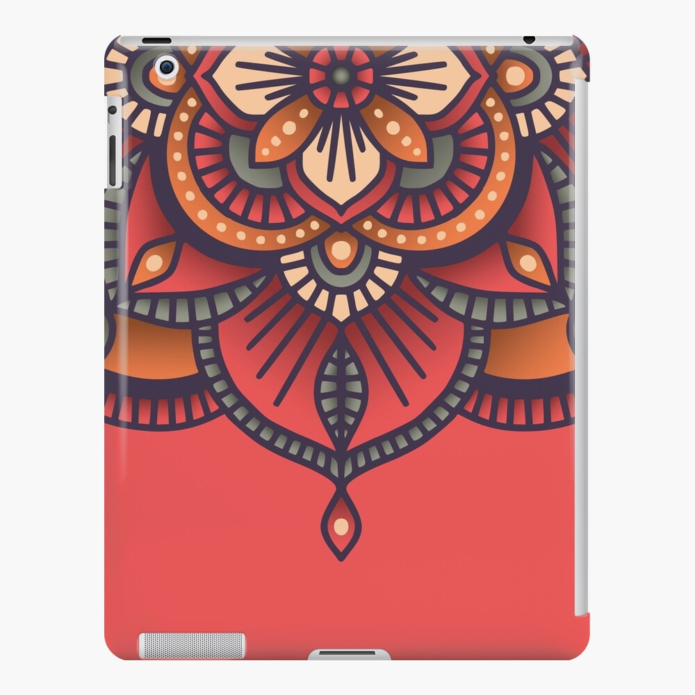 Red Mandala  iPad Case & Skin
