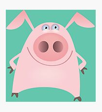 Funny pink pig Photographic Print