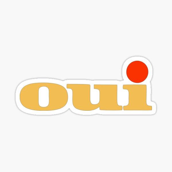 Oui Porn Mag Logo Sticker