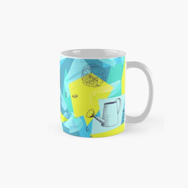 neon maximalist shapes garden delight with sparrow Classic Mug