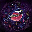 Fehérlólánya - Glowing Birds / Chickadee by ManzardCafe