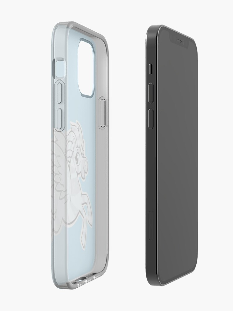 Alternate view of small silver horse unicorn with wings iPhone Case & Cover