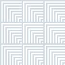 optical art pattern squares in white and ice gray by VrijFormaat