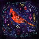 Fehérlólánya - Glowing Birds / Cardinal by ManzardCafe