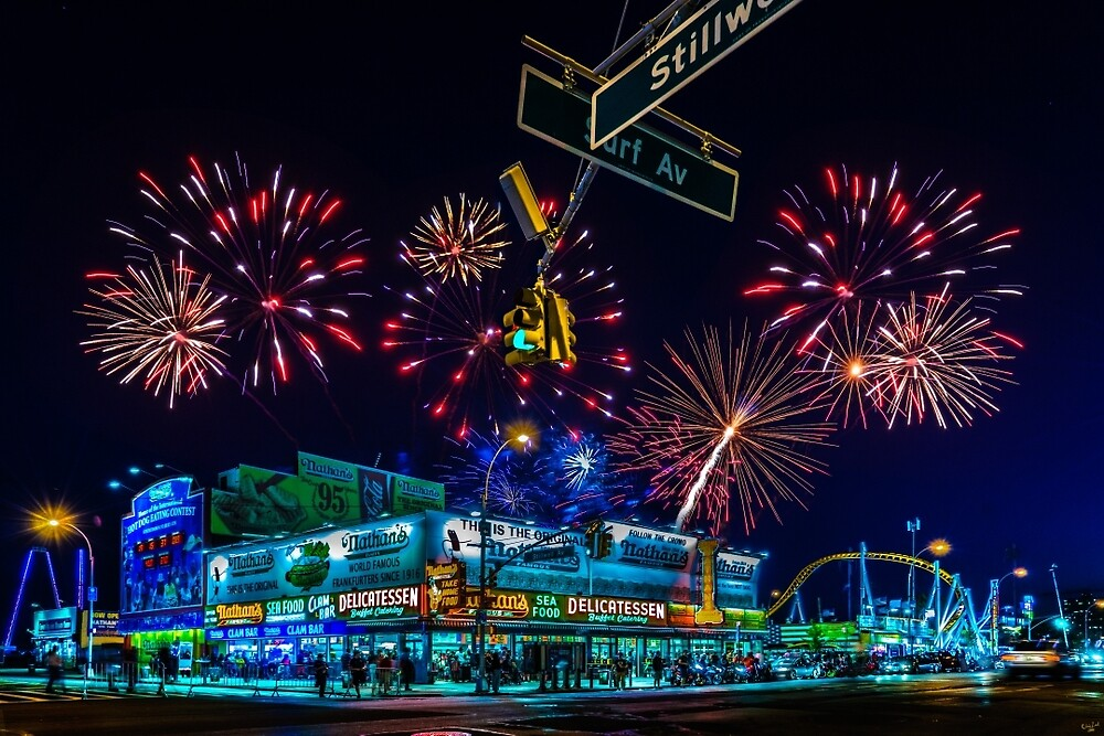 Saturday Night At Coney Island by Chris Lord